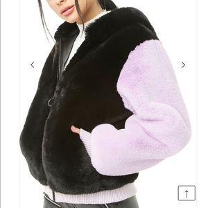⚡️MOVING SALE⚡️ SHACI Faux Fur Jacket Zip Hoodie